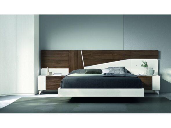 Dormitorio de matrimonio con bancada volada modelo Cosmos 038