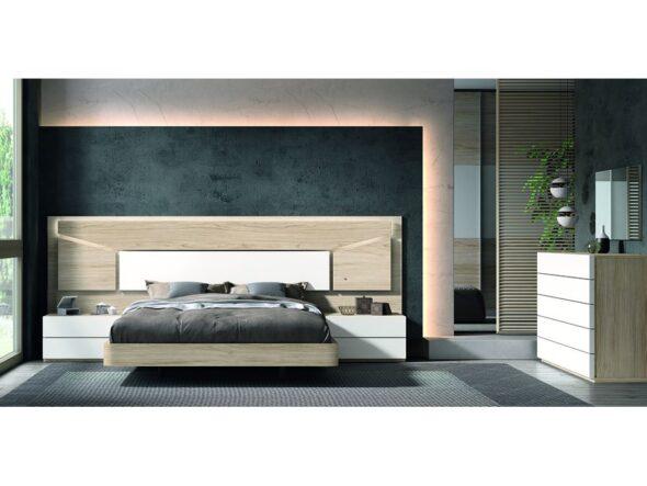 Dormitorio de matrimonio blanco y original modelo Cosmos 004