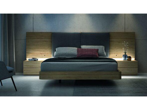 Composición dormitorio de matrimonio efecto lujo modelo Cosmos 041