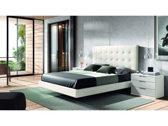 Dormitorio de matrimonio blanco modelo Cosmos 043