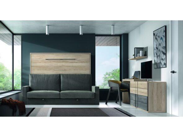 Dormitorio con cama abatible modelo Cosmos 045