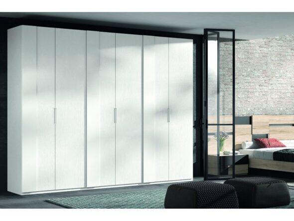 Composición armario 6 puertas blanco modelo Cosmos 049