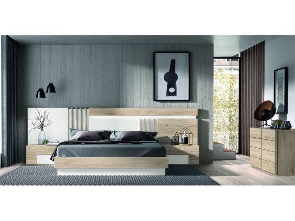 Composición actual dormitorio de matrimonio modelo Cosmos 008