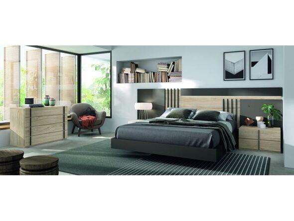 Dormitorio de matrimonio de última tendencia modelo Cosmos 009
