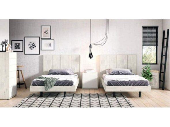 Dormitorio dos camas torga