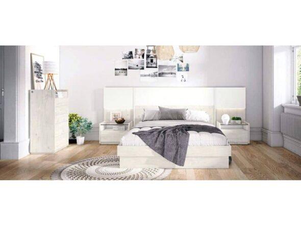 Dormitorio de matrimonio en Norway y blanco