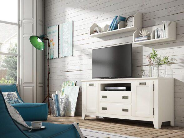 Salón Indufex Ocean en color blanco lacado