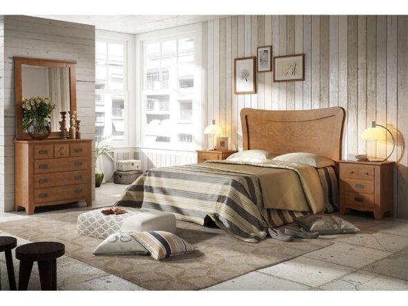 Dormitorio en color nogal