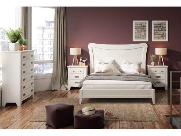 Dormitorio Indufex modelo ocean 284 lacado blanco