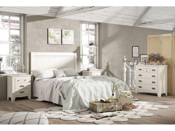 Dormitorio modelo ocean 289 en color blanco lacado