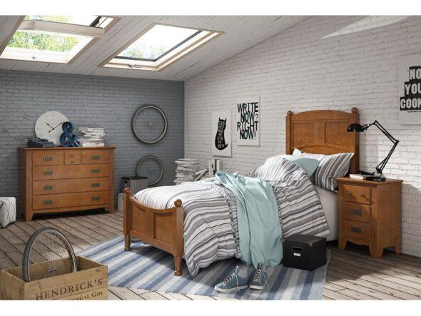 Dormitorio en color nogal Indufex Ocean