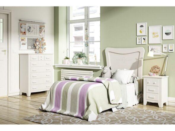 Dormitorio juvenil lacado blanco indufex