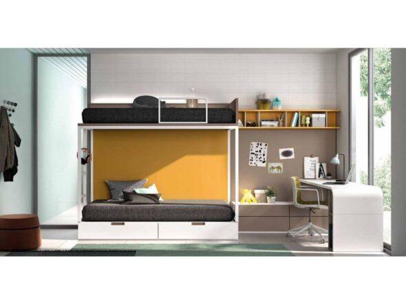 Dormitorio juvenil con literas S40