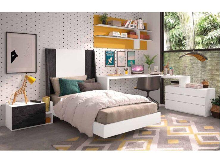 Dormitorio Juvenil con cabecero S59